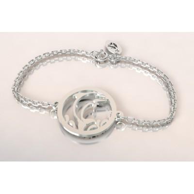 Bracelet de créateur en argent pour femme - Dauphin - Lyn&Or Bijoux