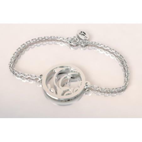 Bracelet créateur original mixte Dauphin argent