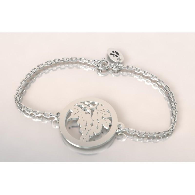 Bracelet créateur original mixte Grappe de raisin argent