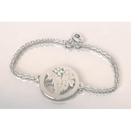 Bracelet créateur en argent - Grappe raisin