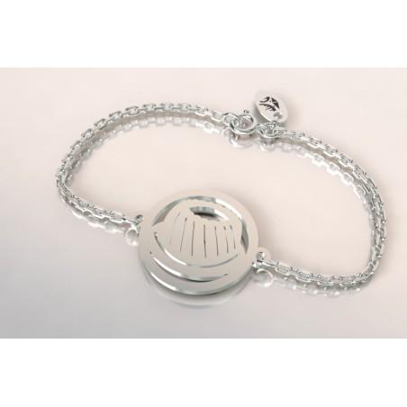 Bracelet créateur original mixte Kouglof argent