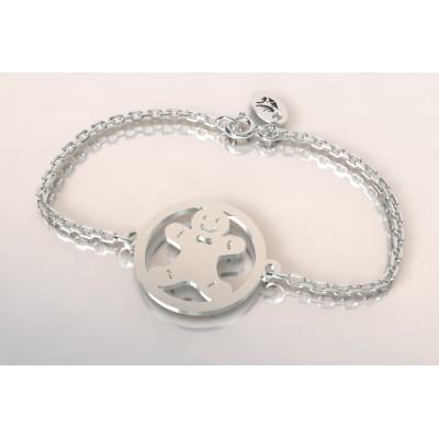 Bracelet créateur original mixte Manala argent
