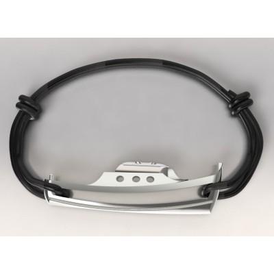 Bracelet cordon et argent pour femme - Bateau Pinasse - Lyn&Or Bijoux