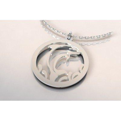 Collier créateur en argent original pour femme - Dauphin - Lyn&Or Bijoux