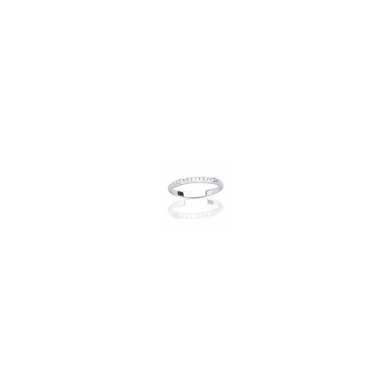 Alliance pour femme diamant et or blanc 18 carats, Secret