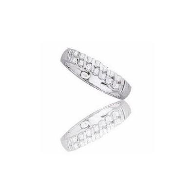 Alliance pour femme en or blanc avec diamants-Diane