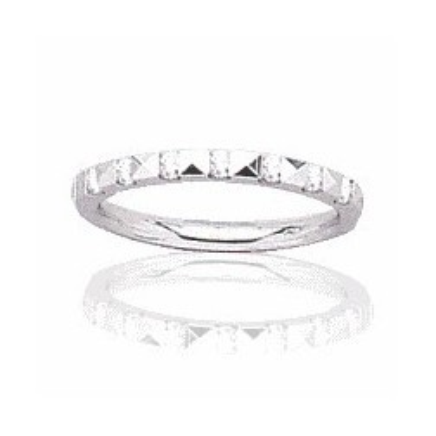 Alliance pour femme or blanc 18 carats, diamant-Rêveries