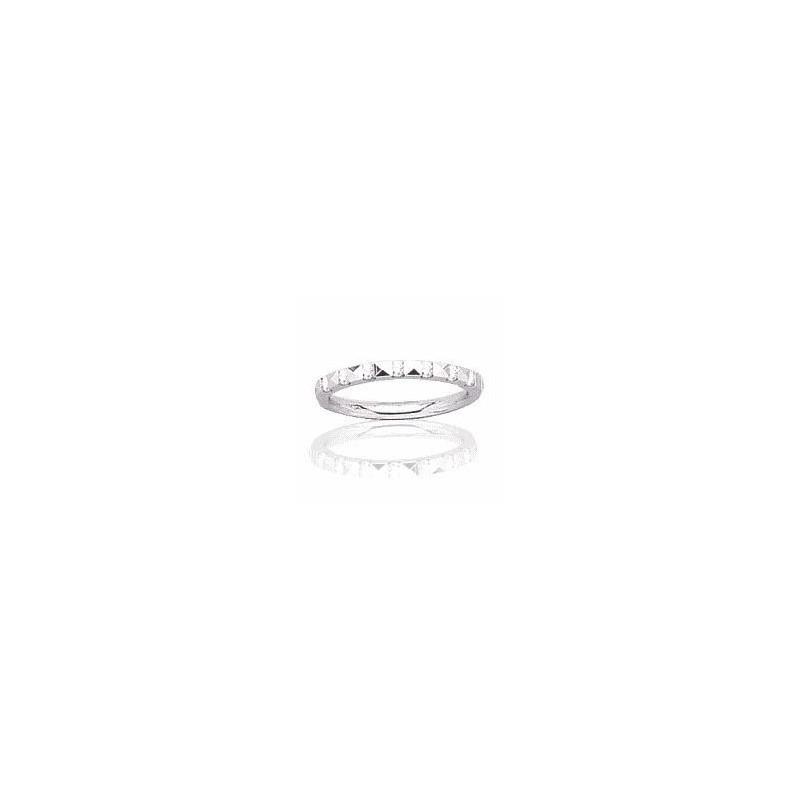 Alliance pour femme or blanc 18 carats, diamant -Rêveries