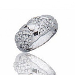 Bague en or blanc 18 carats, diamant - Isaure