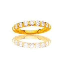 Alliance pour femme en or jaune 18 carats et diamants -La Croisette