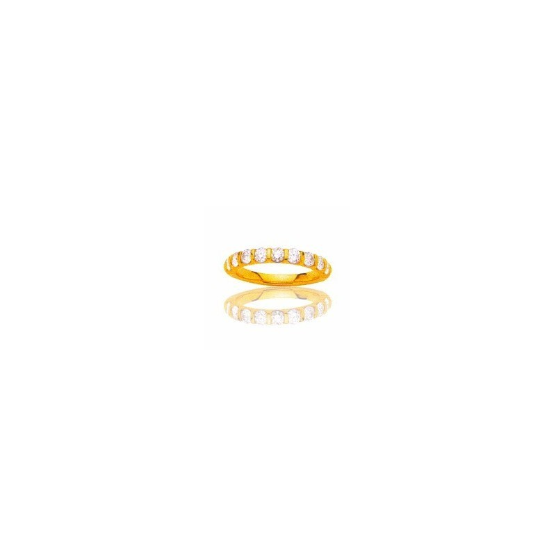 Alliance femme en or jaune & diamants - Lyn&OR Bijoux