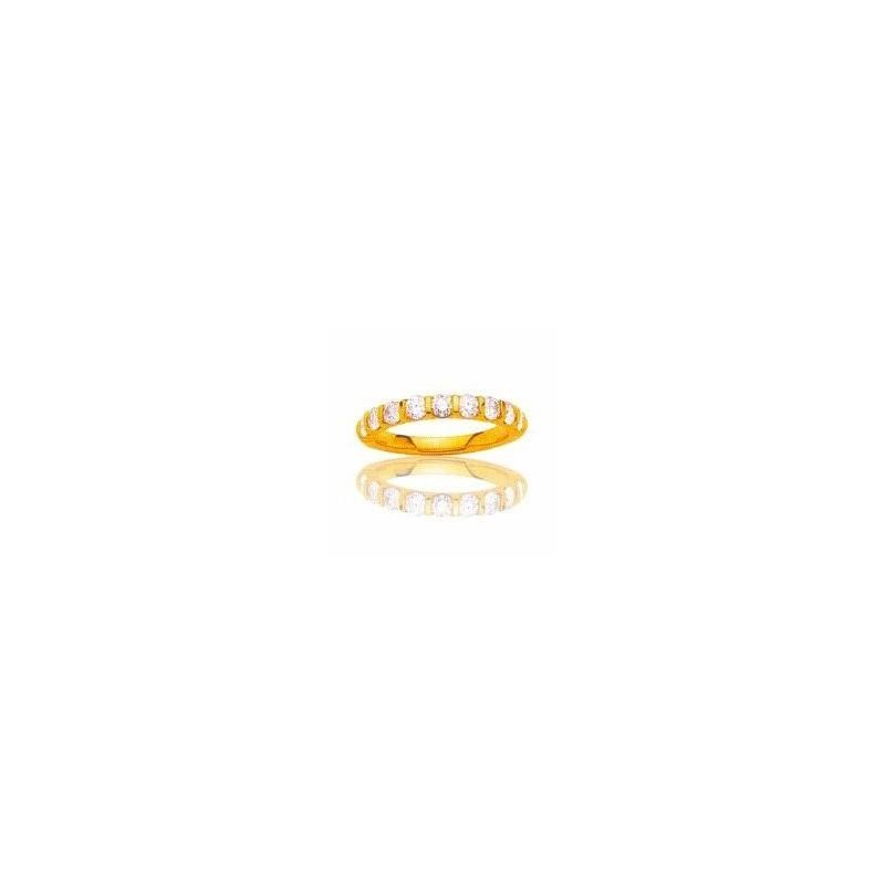 Alliance pour femme or jaune 18 carats et diamants -La Croisette