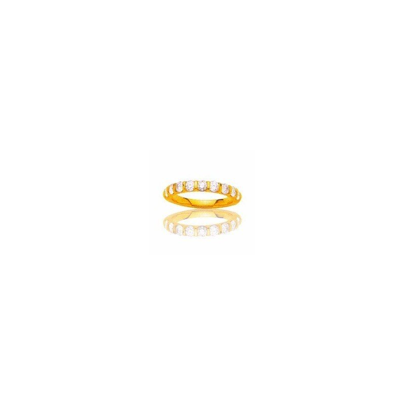 Alliance femme en or jaune & diamants véritables - Lyn&Or Bijoux