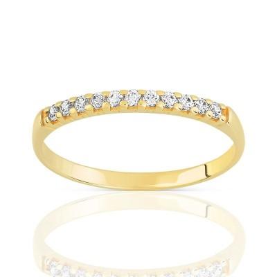 Alliance en or jaune 18 carats et diamant - Bali