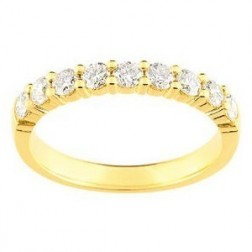 Alliance pour femme en or 18 carats et diamants -Cyclades