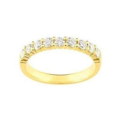 Alliance femme en or jaune & diamants - Cyclades - Lyn&Or Bijoux