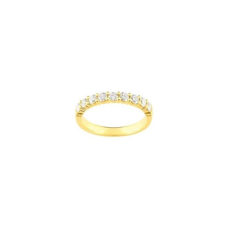 Alliance pour femme or 18 carats et diamants -Cyclades