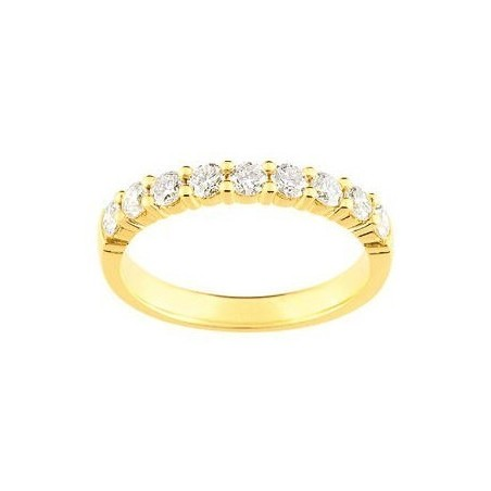 Alliance pour femme or 18 carats et diamants -Cyclades
