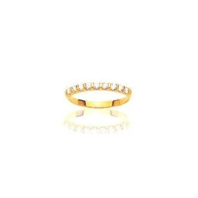 Alliance diamants en or jaune 18 carats pour femme, Casablanca