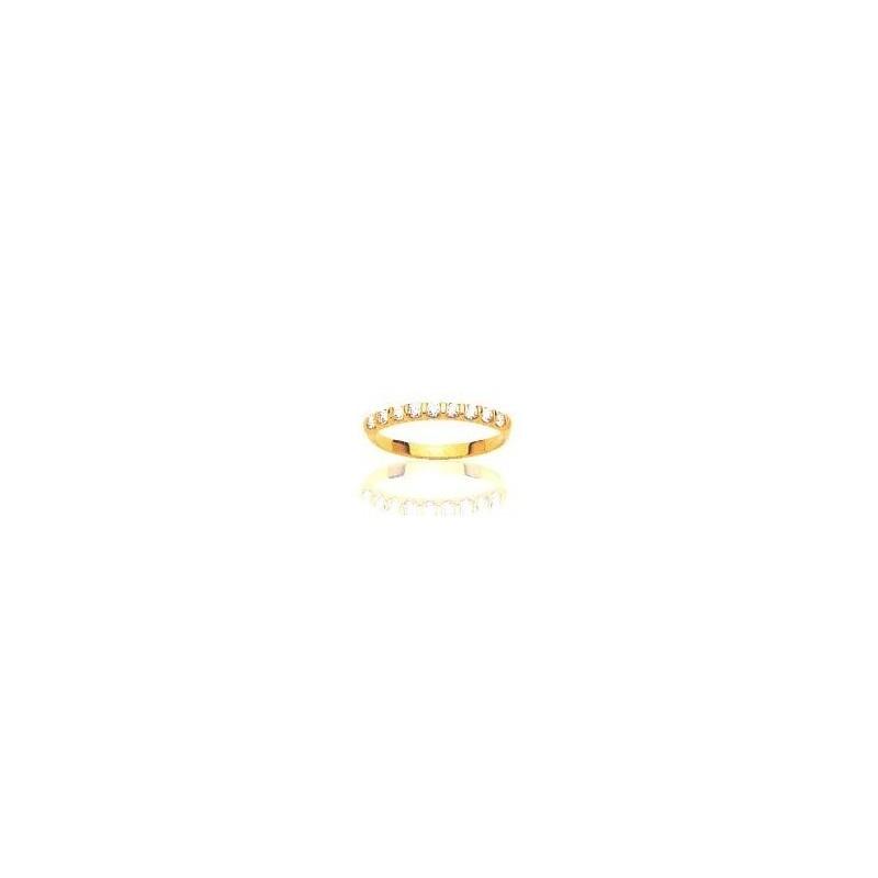 Alliance pour femme or 18 carats et diamants -Casablanca