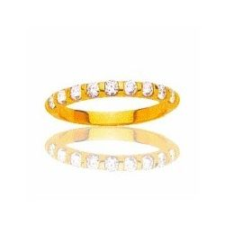 Alliance en or 18 carats et diamants solitaires pour femme -Louisianne