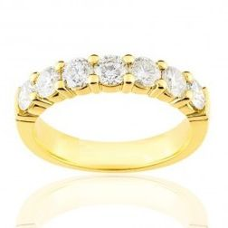 Alliance en or 18 carats et diamant pour femme - Andalousie