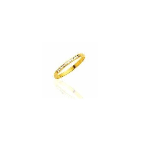 Alliance pour femme or 18 carats, diamant, anneau de mariage -Paris