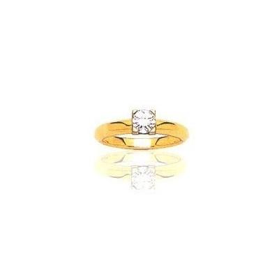 Bague en or 18 carats, diamant solitaire pour femme - Marilyne - Lyn&Or Bijoux