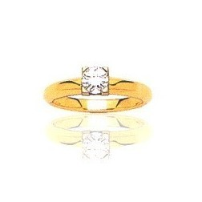 Bague en or 18 carats, diamant solitaire pour femme - Marilyne