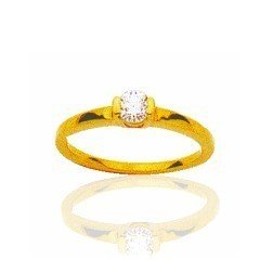 Bague en or 18 carats et diamant solitaire - Colombine