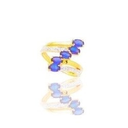 Bague de saphir et diamant en or 18 carats - Beauté profonde
