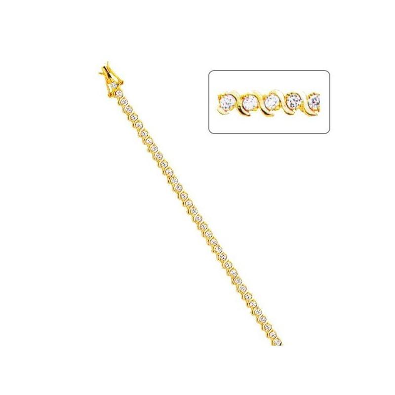 Bracelet gourmette fantaisie pour femme en plaqué or, Salsa