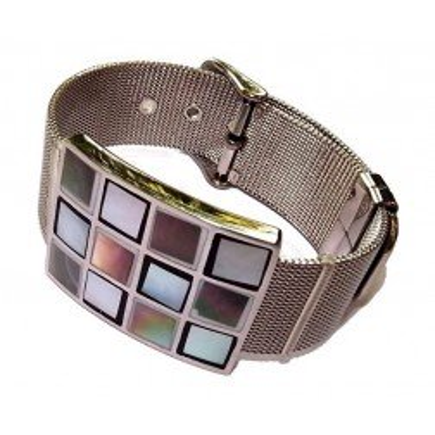 Bracelet cuir Femme, acier & nacre abalone - Odena - Lyn&Or Bijoux