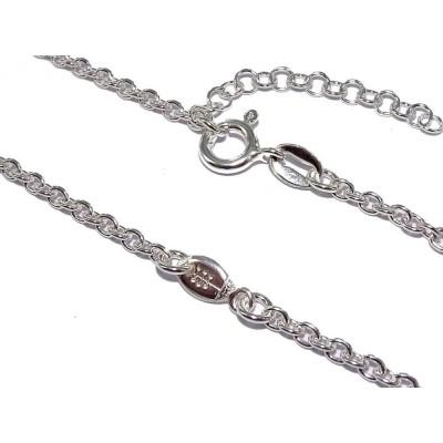 Bracelet en argent pour homme, femme & enfant - Ballon de Rugby - Lyn&Or Bijoux