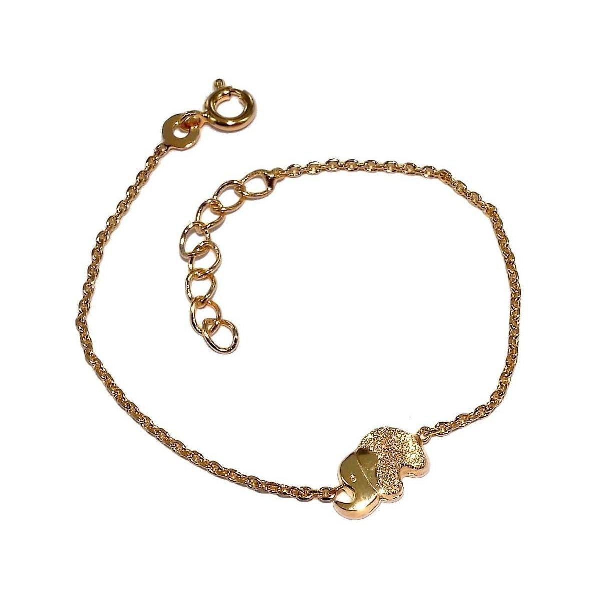 bracelet pour enfant en plaqu or et zircon pour femme cr ation les perles de v nus elephant. Black Bedroom Furniture Sets. Home Design Ideas