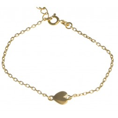 Bracelet coeur en plaqué or pour femme, Amore