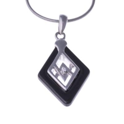 Collier ras-de-cou argent, céramique noire pour femme - Myka - Lyn&Or Bijoux