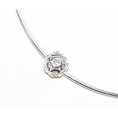 Collier câble en argent 925 et zircon pour femme, Etincelle