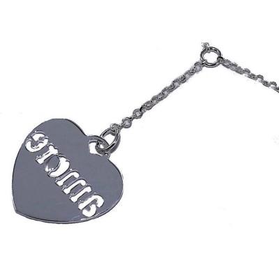 Collier coeur argent 925/1000 pour femme, Amore