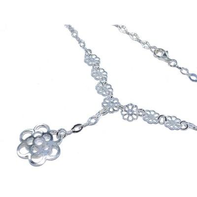 Collier de fleurs en argent 925 pour femme - Spring - Lyn&Or Bijoux