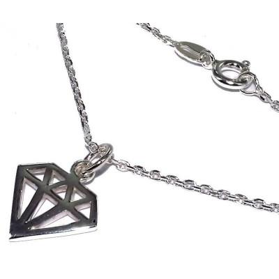 Collier en argent 925 millièmes pour femme - Diamond - Lyn&Or Bijoux