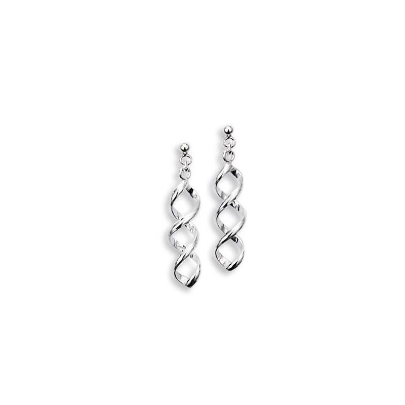 Boucles d'oreilles pendantes en argent pour femme - Tourbillon - Lyn&Or Bijoux