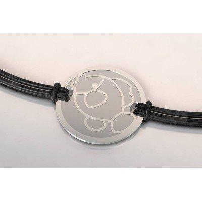 Bracelet créateur en acier et argent pour femme - Poisson - Lyn&Or Bijoux
