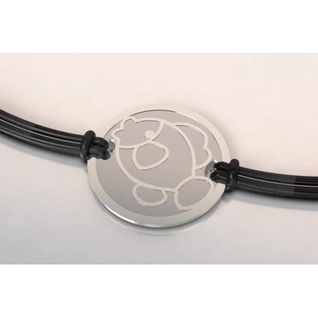 Bracelet créateur original mixte Poisson acier, argent