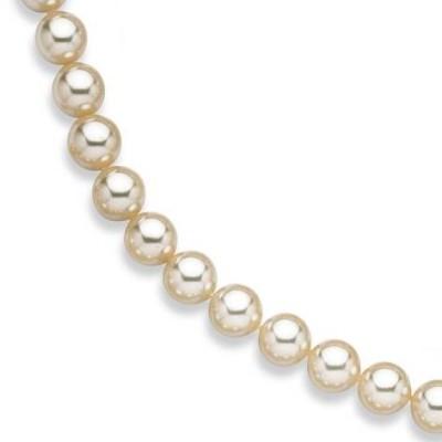 Collier de perles blanches de Majorque 14 mm pour femme - Lucina