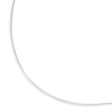 Collier câble en argent 925 millièmes/1000 pour femme, 0,9 mm