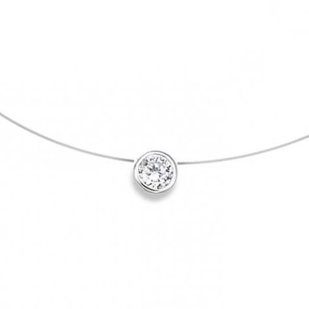 Collier en argent et zirconia - So-Shiny