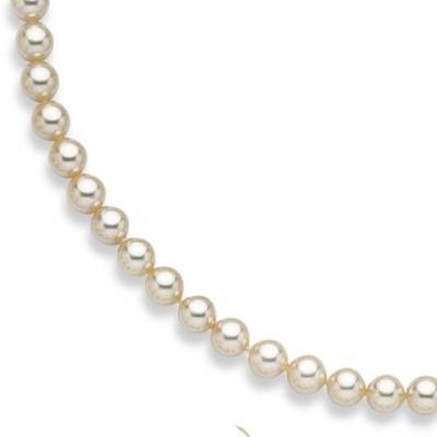 Bracelet de perles blanches de Majorque 8 mm en plaqué or femme