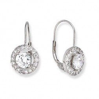 Boucles d'oreille femme, Dormeuses argent & zircon - Eblouissement - Lyn&Or Bijoux