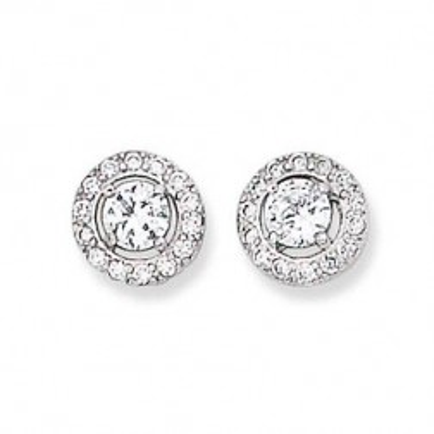 Boucles d'oreilles en argent 925 pour femme, Eclat de Lumière
